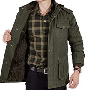 Jeep Chariot Winter Quilted Casual Coat Outerwear